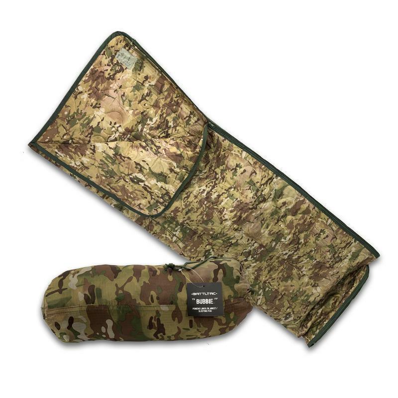 Camo Woobie Military Style Poncho Liner and Sleeping Bag - Multicam Camo