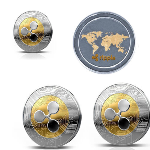1Pcs Ripple coin XRP CRYPTO Commemorative Ripple XRP Collectors Coin Gift @MY