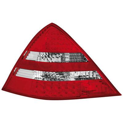 LED 2 x Rückleuchten Mercedes SLK R170 Bj. 00-04 red/crystal / Klarglas ZRK