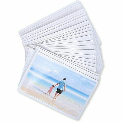 """Juvale 24-Pack Magnetic Wallet Picture Frame Holds 2.5"""" x 3.5"""" Pocket Photo"""