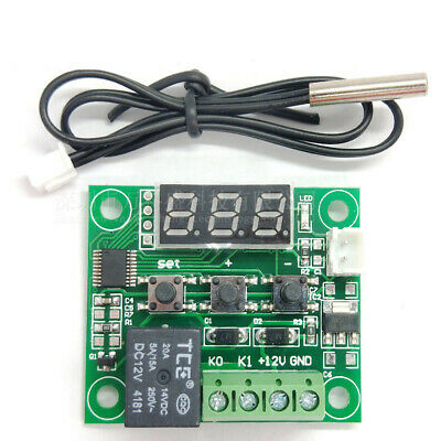 -50-110c W1209 Digital Thermostat Temperature Control Switch Dc 12v Sensor