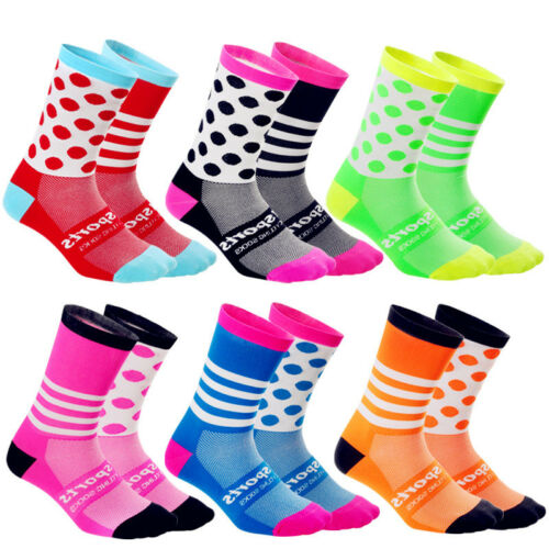 Men Women Riding Cycling Sports Socks Unseix Breathable Bicycle Footwear NEW