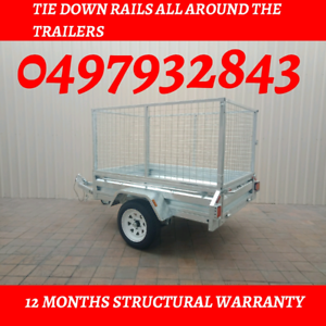 7x4 single axle trailers fully hot dipped galvanised trailer