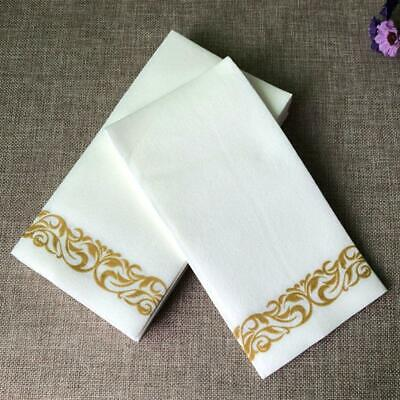 50Pcs Disposable Hand Towels Dinner Napkin Absorbent Linen-Feel Paper Decorative Napkin Dinner Disposable