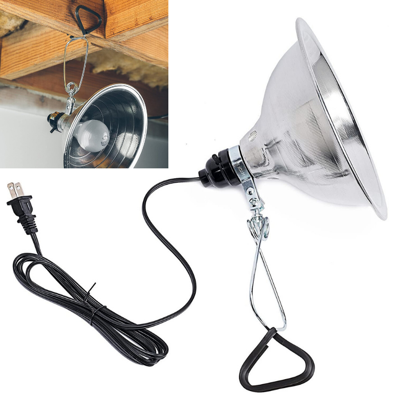 Woods 0160 18/2 SPT-2 Clamp Lamp with 5.5 Inch Reflector, 60