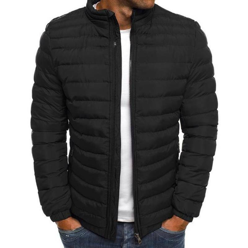 Men's Puffer Bubble Down Coat Jacket Quilted Winter Casual Lightweight Outwear Clothing, Shoes & Accessories