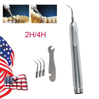 Usa 2 Hole 4 Hole Dental Hygienist Sonic Piezo Air Scaler Handpiece With 3tips
