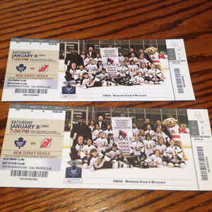2 Leafs/Devils tickets from 2005 lock out season