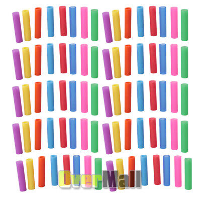 80x Reusable Silicone Tips Cover Food Grade For 6mm Stainless Steel Metal Straws Silicone Tip Covers