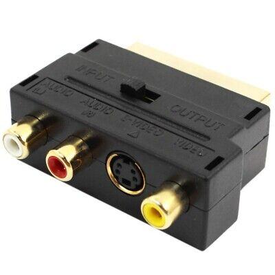 negro Euroconector 20 pin macho a 3 RCA AV hembra + adaptador...