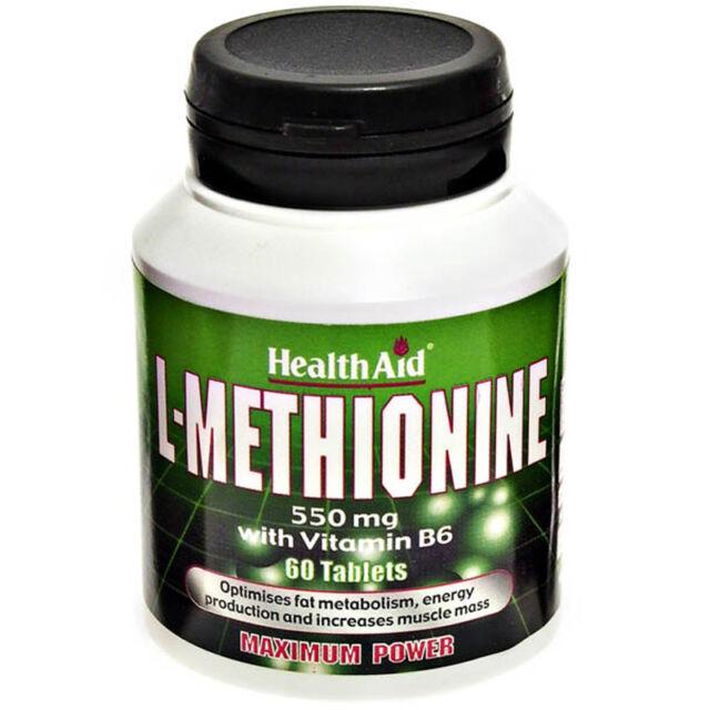 Health Aid L-Methionine 550mg 60 tablets