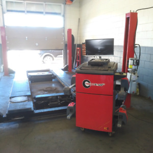Four Post Alignment Hoist and Four Wheel Alignment Machine