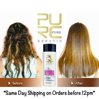 Pure Brazilian Keratin Hair Straightening Treatment Blow Dry 100ml 3.3 fl oz