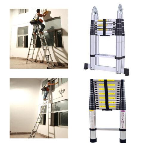 Scala Telescopica In Alluminio Scaletta Multifunzionale Scala Pieghevole 2.6-5M