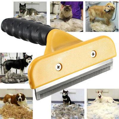 Pet Grooming Brush Comb Shedding Rake Trimming Tool for Dog Cat Hair Fur Removal