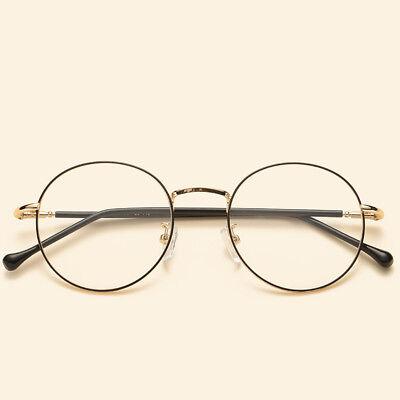 GLASSES ROUND METAL MEN FRAME KOREAN BRAND DESIGNER WOMEN VINTAGE OPTICAL (Korean Glasses Brands)