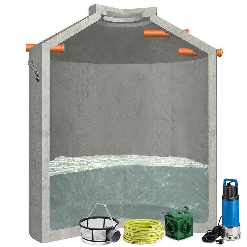 Regenwassertank, Betonzisterne Hydrophant 9200L Gartenanlage inkl Pumpe & Deckel