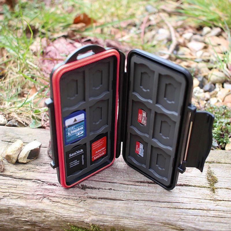 SD MicroSD Memory Card Case Holder Hard Storage Wallet Anti-shock Waterproof