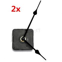 2X Wall Clock Quartz Movement DIY Mechanism Battery Operated Motor Repair Part