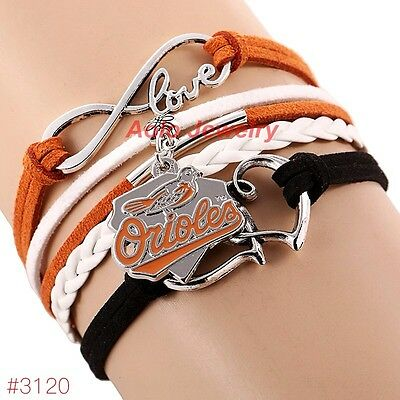 - Baltimore Orioles Bracelet Baseball Charm Quality Fast Ship USA Seller