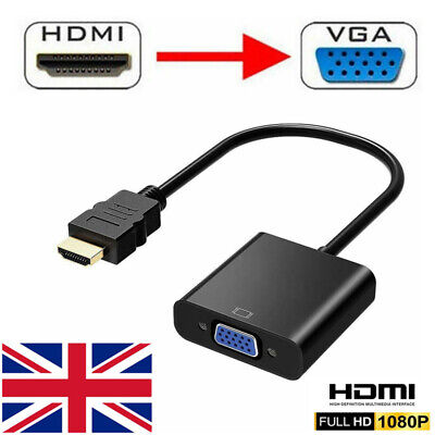 HDMI Male To VGA Female Cable Converter Adapter Connector 1080P HD For PC TV DVD