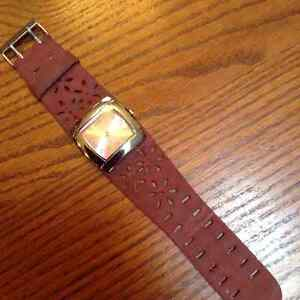 Watch w/suede look band