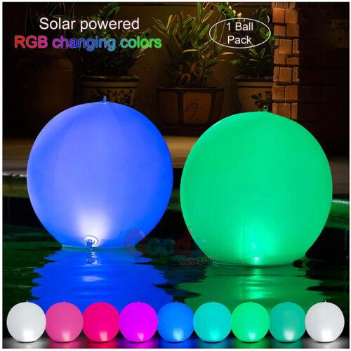 14inch Floating Pool Lights Inflatable Waterproof IP68 Solar