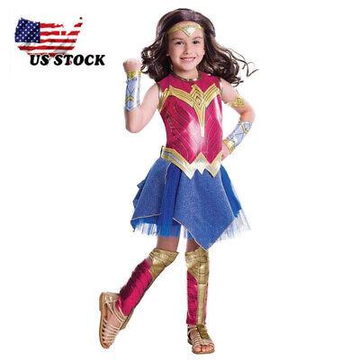 Girl Superhero Costume (Child Dawn Of Justice DC Superhero Wonder Woman Halloween Costume Girls)