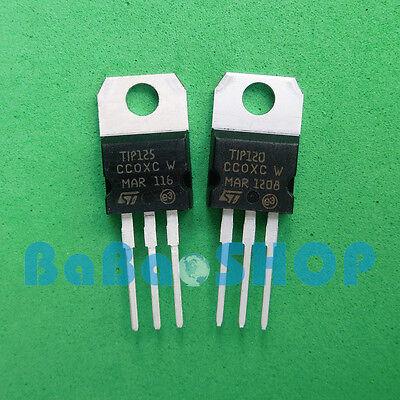 5pairs Tip120 Npn Tip125 Pnp Brand New Darlington Transistors To-220 St