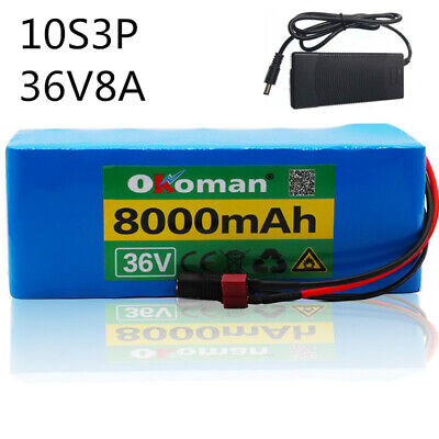 - 36V 8AH Li-ion Battery Volt Rechargeable Bicycle 500W E Bike Electric  + Charger