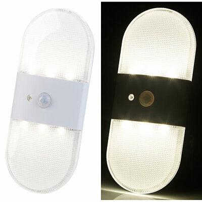 Wandlicht: Batterie-LED-Wandleuchte, Bewegungs- & Licht-Sensor, 80 Lumen, IP44