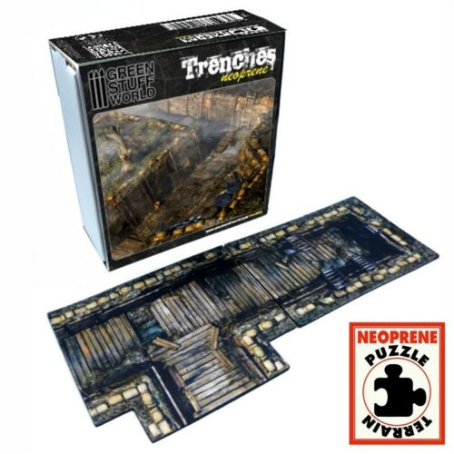 2D Scenery Set TRENCHES - Neoprene Wargames Warhammer 9th Age 40k