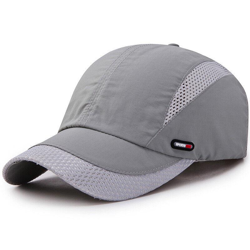 Men Women Baseball Cap Mesh Curved Peak Snapback Breathable Trucker Hat Unisex Clothing, Shoes & Accessories
