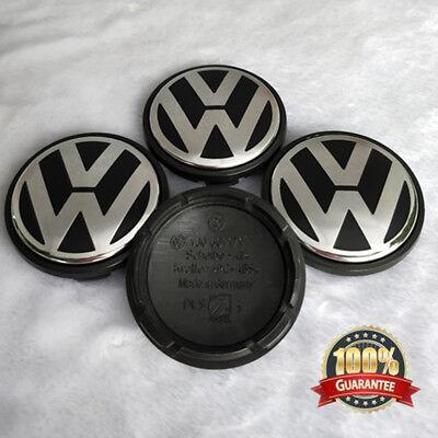 - 4pcs Wheel Center Hub Caps Logo Emblem for VW VOLKSWAGEN Golf Jetta Beetle 56mm