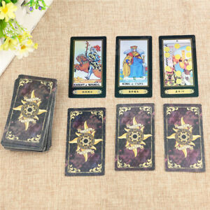 78 Card / 1 Set Rider Game Tarot Cards Deck Vintage Antique Colorful Card + Box