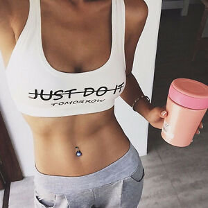 BRAND NEW Just Do It TOMORROW - Crop Top