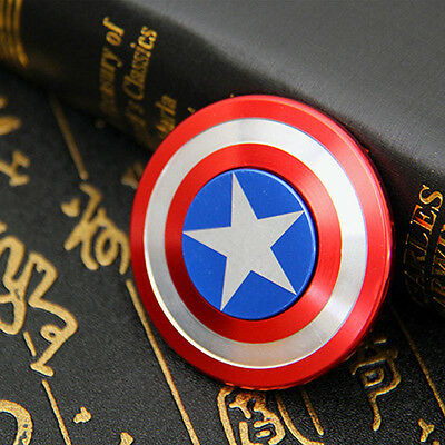 Captain America Hand Spinner Fidget Shield Toy EDC Focus ADHD Autism Kids Gift#D
