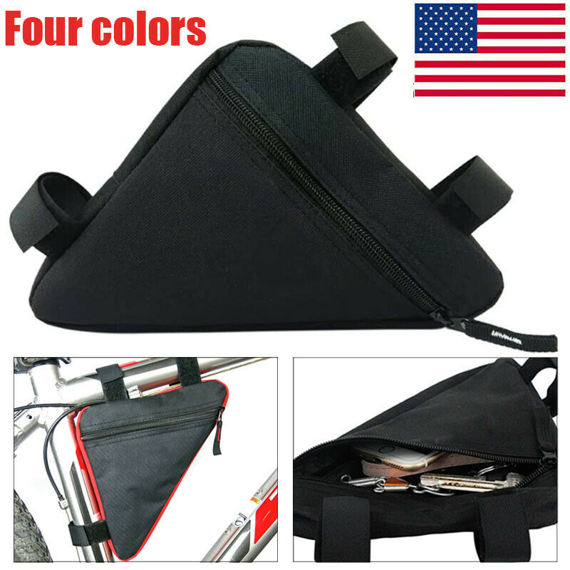 Bike Storage Bag Bicycle Triangle Saddle Frame Adjustable Cycling Decor Pouch US
