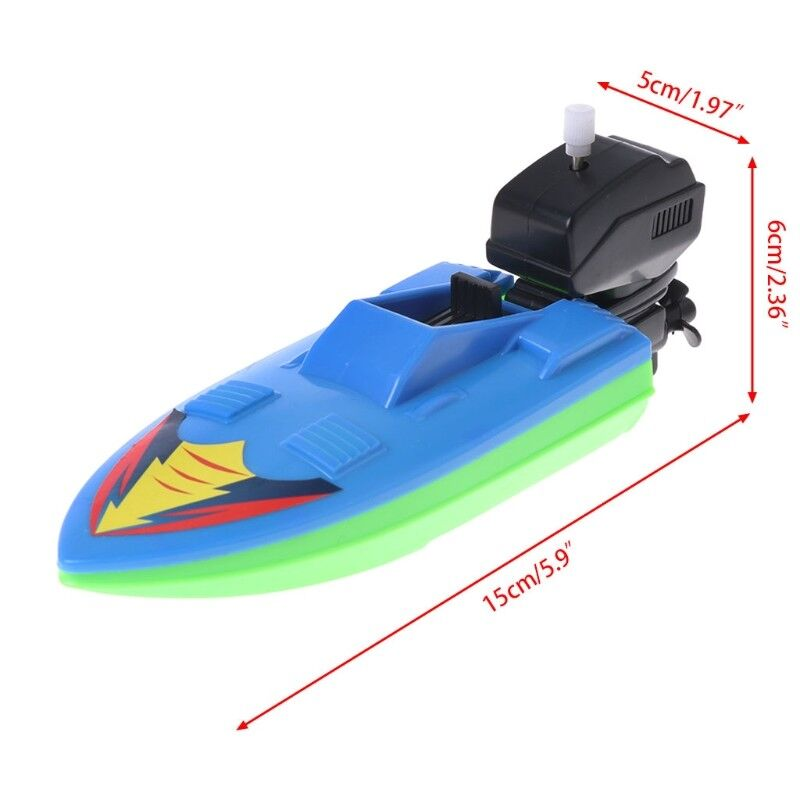 BABY KID WIND Up Clockwork Boat Ship Toys Bath Toy Play Water ...