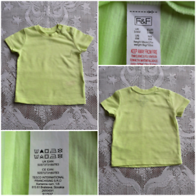 BABY'S 3-6MTHS SHORT SLEEVED T-SHIRT