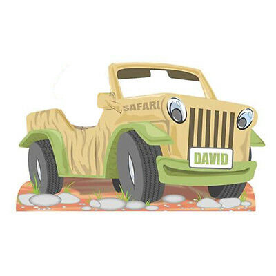 SAFARI JEEP Personalized CARDBOARD CUTOUT Stand-In Photo Prop Jungle FREE SHIP - Photo Stand In Props