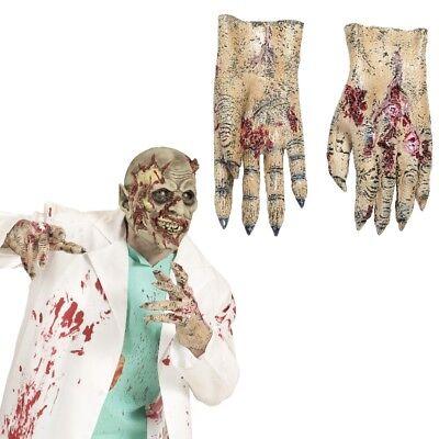 ZOMBIE HÄNDE gruselige Latex Handschuhe Untoter  Monster - Halloween Monster Händen