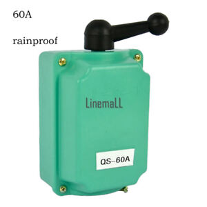 60 A Drum Switch Forward/Off/Reverse Motor Control Rain-Proof Reversing XBUK