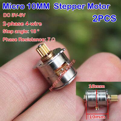 2pcs Micro 10mm Stepper Motor Dc 3v 6v 2-phase 4-wire Stepper Motor Diy Camera
