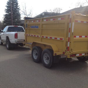 "MINI BOBCAT SERVICE ( 36"") & 12' SPLIT LOAD DUMP TRAILER Calgary Alberta image 6"