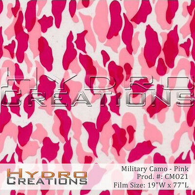 Hydrographic Film For Hydro Dipping Water Transfer Film Pink Military Camo