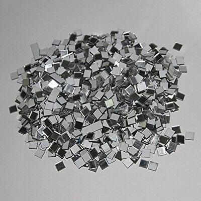 Home Decoration - 100 Pcs Small Square Glass Mirror Mosaic Tiles DIY Home Artwork Supplies Decor