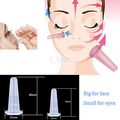 Face Eye Body Anti age Anti Cellulite Silicon Cupping Cup Facial Lifting Massage