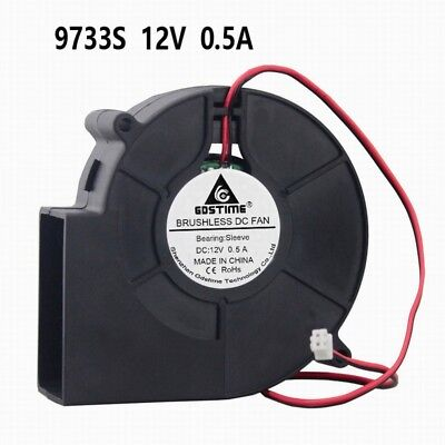12V 97x33mm Brushless Blower Centrifugal Cooling Fan Computer 97mm x 33mm (97mm Fans)