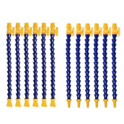 12 Pcs Water Oil Coolant Pipe Hose 40cm Round Nozzle Adjustable Flexible For Cnc